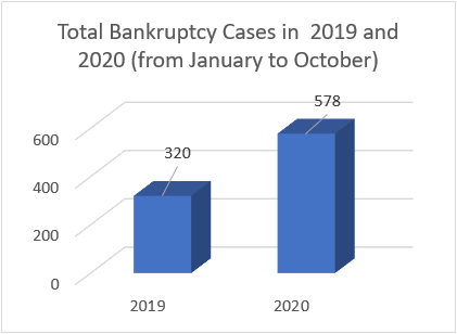 total bankruptcy in 2020